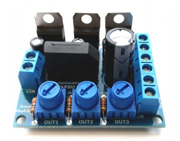 RkPSU v3 Triple Output PSU for Model Railways - Built